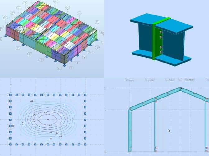 podstawowy model w programie robot structural analysis